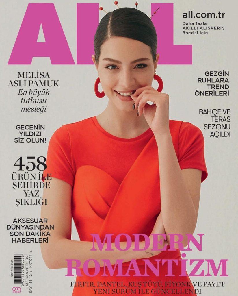 Melisa Aslı Pamuk All Dergisi Haziran Ayı Kapağında