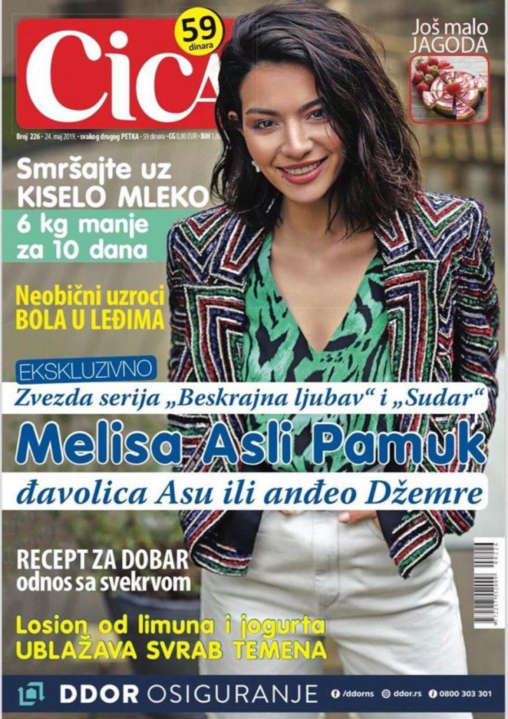 Melisa Aslı Pamuk Sırbistanın Ünlü Dergilerinden Cica'nın Kapağında